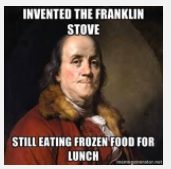 Franklin at lunch